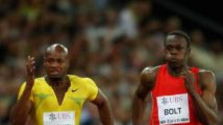 Asafa Powell y Usain Bolt son los más rápidos del mundo.