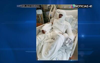 Un accidente dejó en llamas al dominicano Miguel Feliz mientras u...