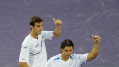 Rafael Nadal y Marcel Granollers derrotaron con comodidad a los croatas...