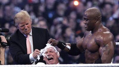 Donald Trump y los invitados a Wrestlemania