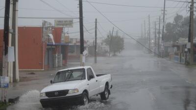 Una imagen del paso del huracán Irma por Puerto Rico.