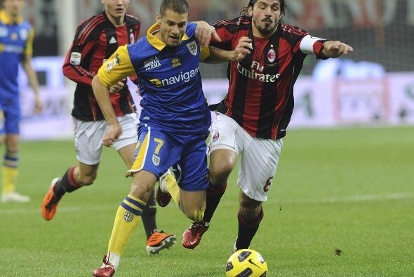 Parma intentó recuperarse pero no consiguió llegar con claridad al arco...