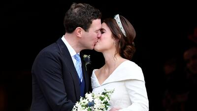 Boda de la princesa Eugenie de York: la novia deslumbró con su vestido e impresionante tiara