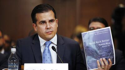 El gobernador Ricardo Rosselló en una audencia en el Senado.