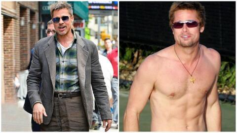 Brad Pitt ha llamado la atención por lo delgado y un poco descuid...