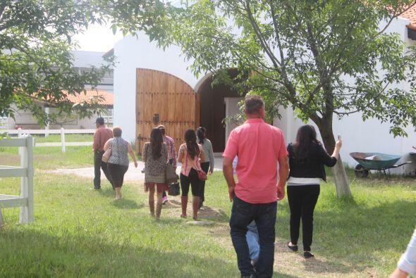 Al grupo se le brindó la oportunidad de visitar una parte del rancho.