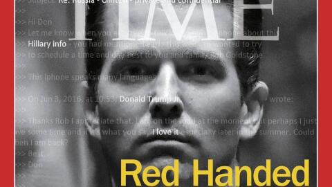 La portada que Time dedica a Donald Trump Jr.