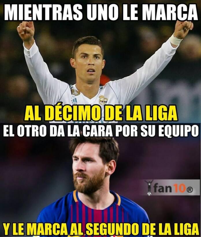 Los memes se acordaron de Cristiano y el Madrid tras el triunfo del Barç...