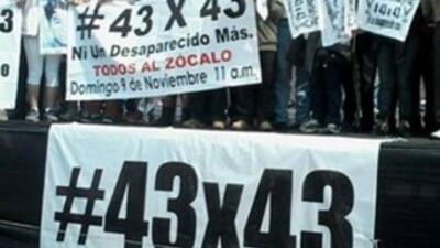 Las protestas por los estudiantes desaparecidos se extenderá hasta Amste...
