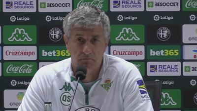Técnico del Betis está a la espera de un documento para poder contar con Lainez ante Girona