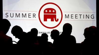 Los republicanos asisten a la reunión de verano en Nashvile, Tennessee.