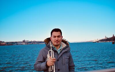 """El trompetista colombiano Federico Montes, ganador del """"National Trumpet..."""