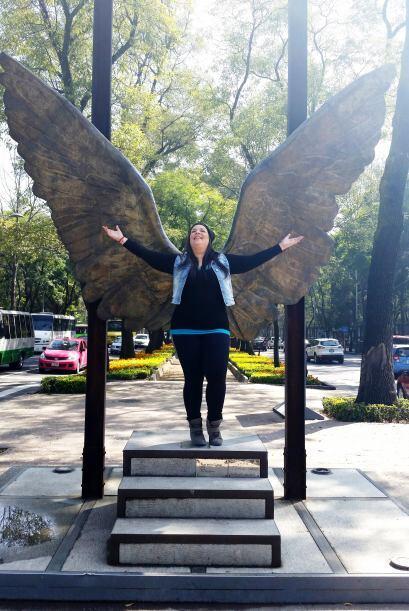 Todos posamos con estas alas de ángel. #VaPorTi