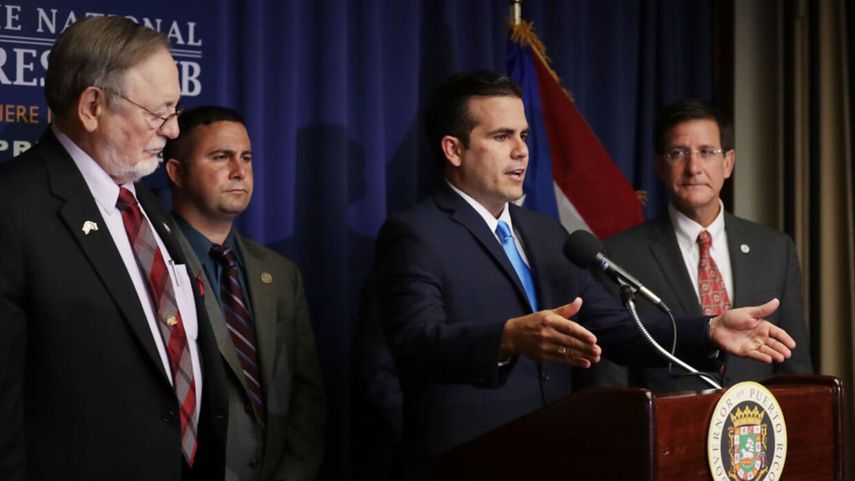 El secretario de Estado de Puerto Rico, Luis Rivera Marín, a la e...