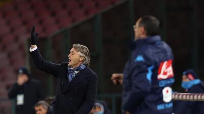 Mancini y Sarri en el duelo entre el Inter y el Nápoles