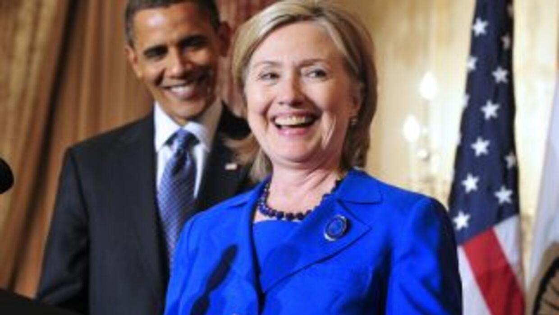 Barack Obama y Hillary Clinton.