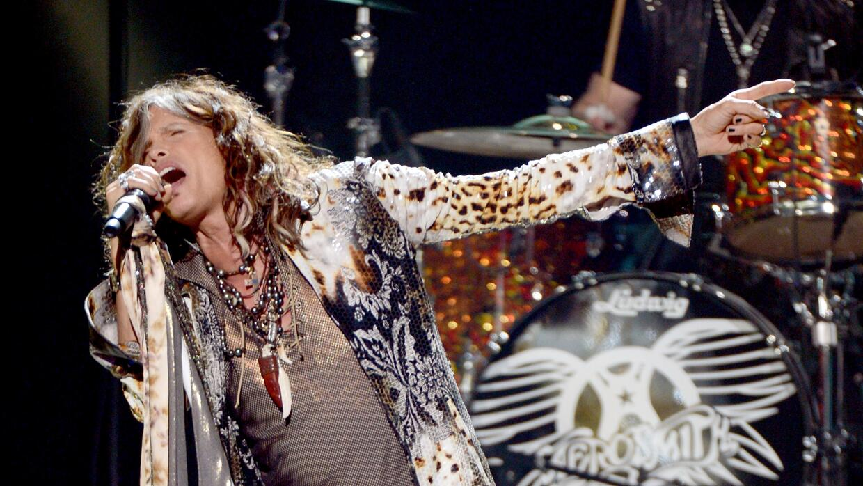 LOS ANGELES, CA - MAY 23: Singer Steven Tyler of Aerosmith performs onst...