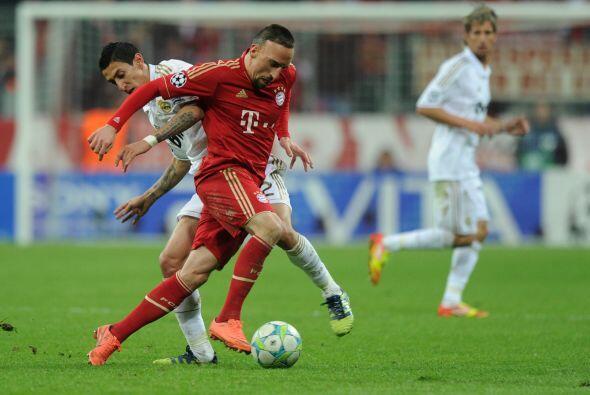 Ribery ya estaba siendo nulificado, después de muchos jugadores que inte...