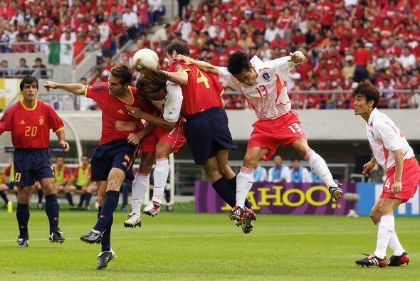 En los Cuartos de final del Mundial del 2002, Corea del Sur y Espa&ntild...