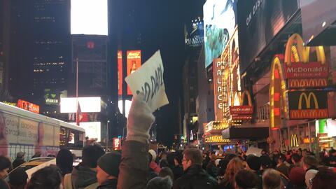 La protesta de Manhattan empezó en Union Square y se extendió a través d...