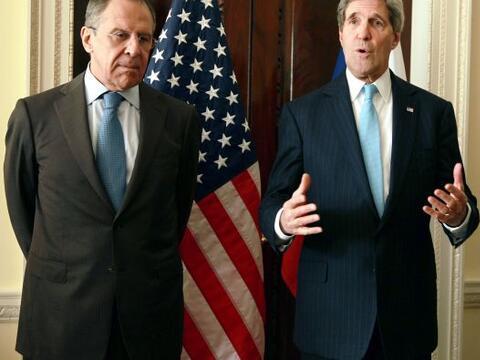 John Kerry se reúne con el ministro ruso de Asuntos Exteriores, S...