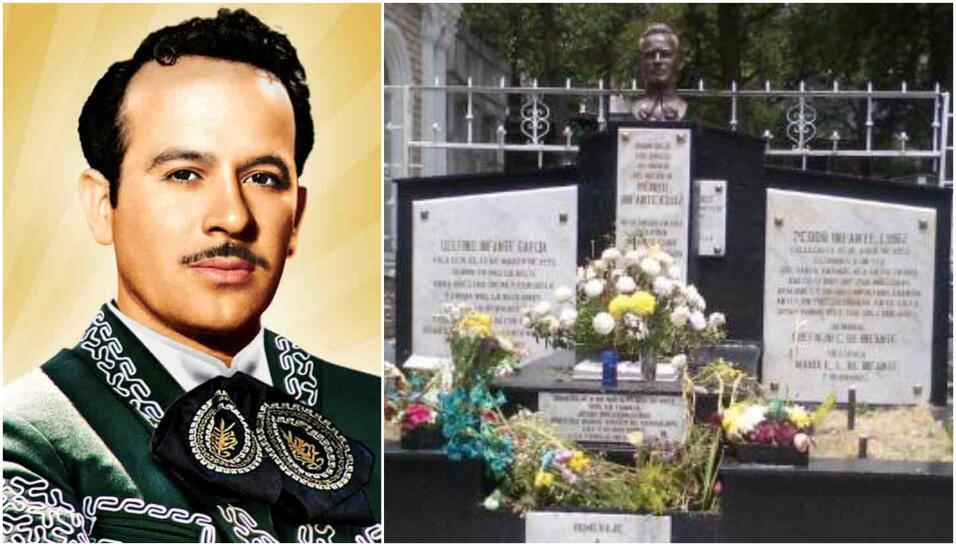 Las tumbas de los cantantes del regional mexicano.