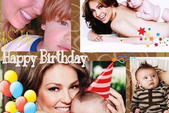 Matthew Alejandro cumplió dos añitos y Thalía lo festejó con una postal...