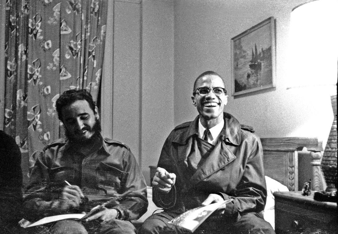 Entro entre el líder estadounidense Malcolm X y el prsidente cuba...