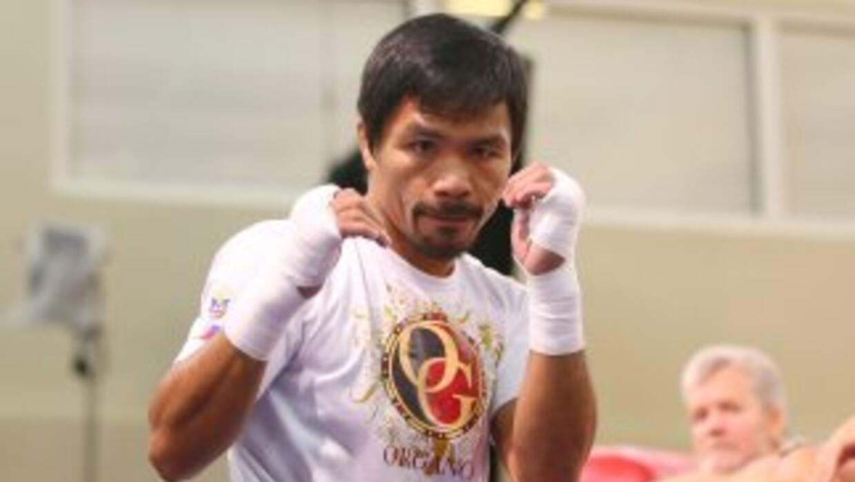 Manny Pacquiao intensifica su preparación.