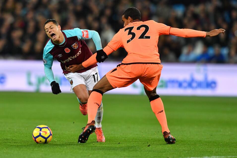 'Chicharito' y el West Ham fueron aplastados por el Liverpool gettyimage...