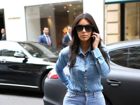 Kim Kardashian fue una de las famosas a las que captamos. Sencillo pero...