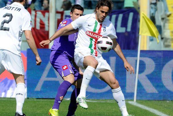 En otro partido, la Juventus visitaba a la Fiorentina con la mente en me...