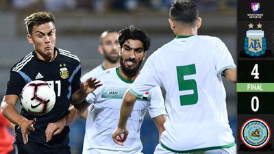 Argentina aplastó a Iraq en amistoso jugado en Arabia