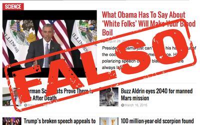 Captura de pantalla de EndingTheFed.com, portal de noticias falsas de de...