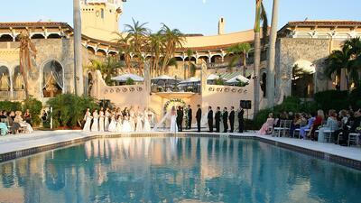 Imagen de la boda de Donald Trump Jr. y Vanessa Haydon en 2005 en Mar-a-...