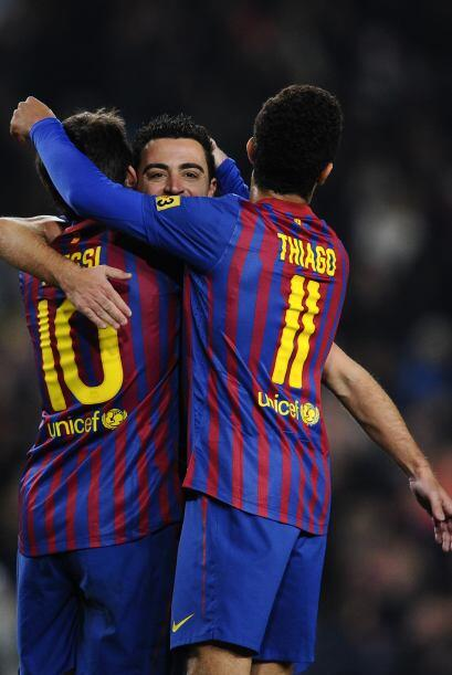 Xavi selló la cuota goleadora para un abultado 5-1.