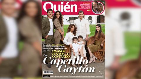 La familia Capetillo Gaytán en la portada de la revista mexicana...