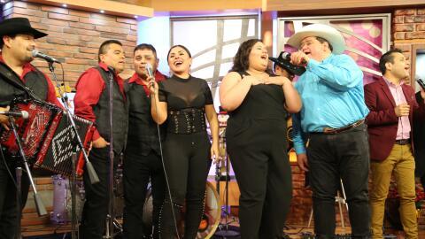 (Left to right: Los Palominos join Elida Reyna, Destiny Navaira, Raulito...