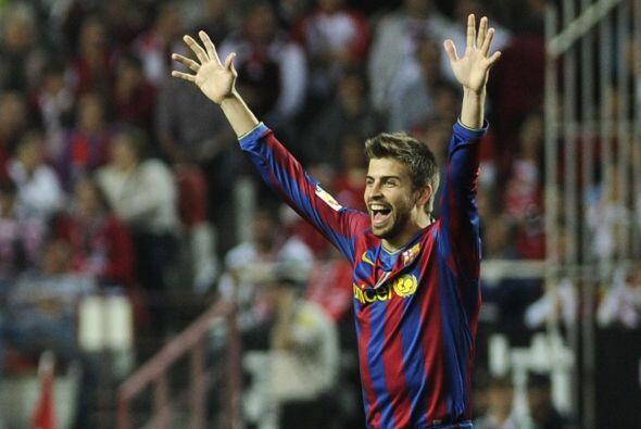 Piqué celebraba el tercer gol que representaba una ventaja definitiva.