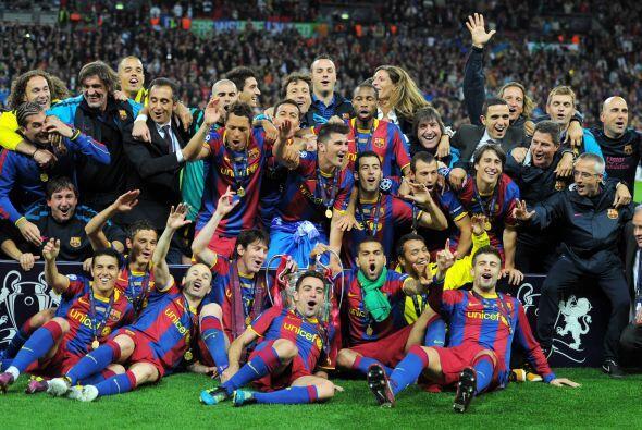 En 2011, Barcelona se volvió a proclamar campeón al derrotar 3-1 al Manc...