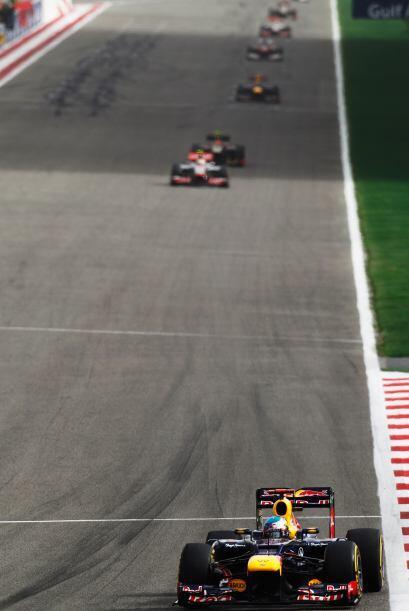 Prácticamente desde el inicio, Sebastian Vettel sacó una gran ventaja so...