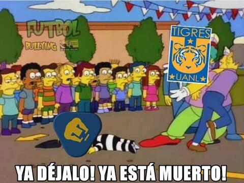 Tigres goleó y humilló a Pumas en la final de ida del Aper...