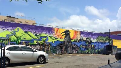 Mural concienciar contaminación aguas