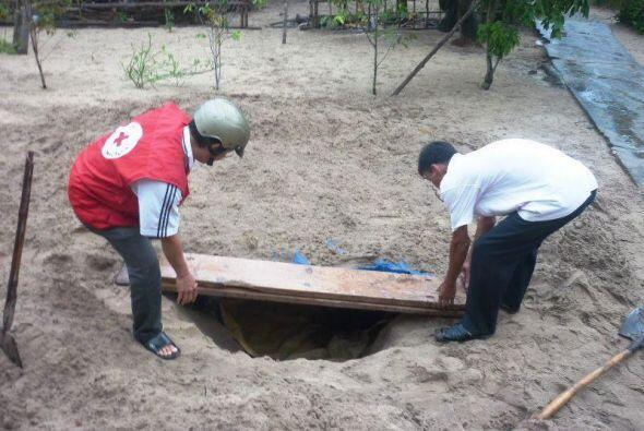 Foto proporcionada por la Cruz Roja de Vietnam en la que se puede ver a...