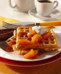 Ricos waffles con naranja: ¡Haz de cada día una fiesta! y comienza por m...