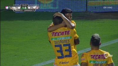 ¡Goool de Tigres! Raúl Torres abre el marcador ante Atlético San Luis