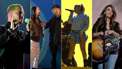 EN FOTOS: Artistas calientan motores para los Latin Grammy