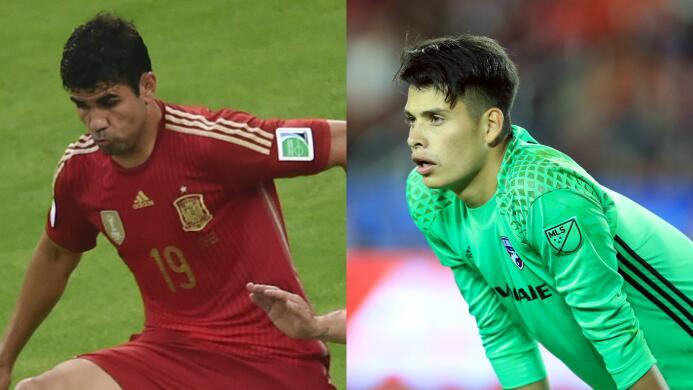Jesse González y otros futbolistas que hicieron parte de dos selecciones...