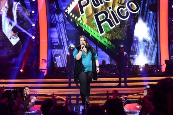 """Yazaira López cantó """"Creo en mí"""" directo desde Naranjito."""