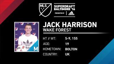 Así juega Jack Harrison, primera selección en el SuperDraft de la MLS 2016